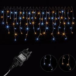 Vánoční světelný déšť 200 LED teplá/studená bílá - 5 m
