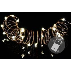 Vánoční světelný řetěz - 20 MINI LED, teple bílý