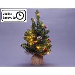 Vánoční stromek s osvětlením - 60 cm, 30 LED