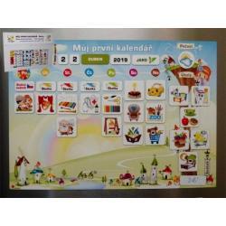 Kalendář magnetický - Školka 114ks magnetek v kartonu 45x32x1cm