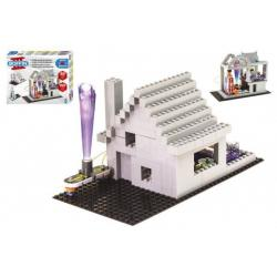 Stavebnice Boffin II. + kostky elektronická 20 projektů na baterie 200ks v krabici 39x30x6cm
