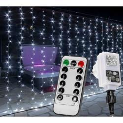 Vánoční světelný závěs - 6 x 3 m, 600 LED, studený bílý