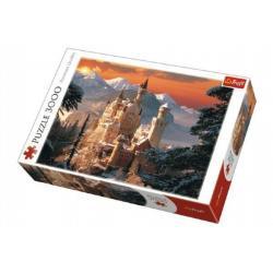 Puzzle Zimní zámek Neuschwanstein 3000 dílků 116x85cm v krabici 40x27x9cm