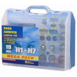 Servisní box 12 V žárovek - H1 + H7 + pojistky