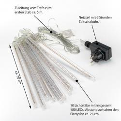 Světelný řetěz 180 LED - 10 tyčí, barevný