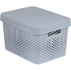 INFINITY DOTS box 17L - šedý