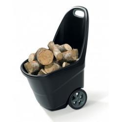 Zahradní plastový vozík XL - EASY GO 62L - antracit + šedý