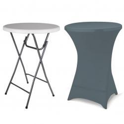 Párty stolek BISTRO skládací vč. elastického potahu