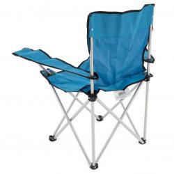 Skládací židle s držákem nápojů - modrá