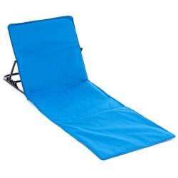 Nastavitelná plážová podložka s opěrkou - modrá