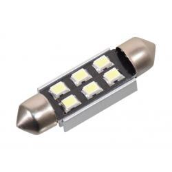 Žárovka 6 LED CAN-BUS s rezistorem - bílá, 12V