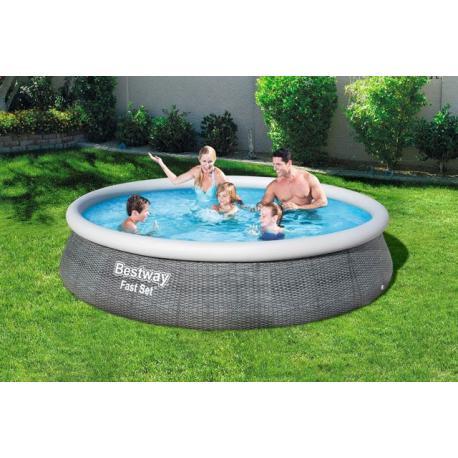 BESTWAY bazén samostavěcí - 396 x 84 cm s filtrem