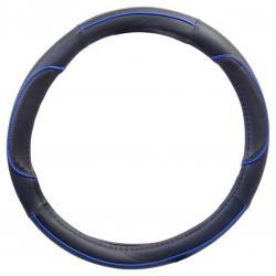 Potah volantu WAVE - modrý/černý
