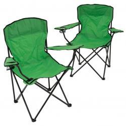 Sada 2 ks skládacích židlí – tmavě zelené
