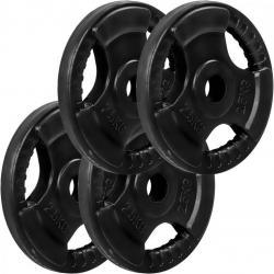 MOVIT sada závaží na činky s gumovým úchyte - 2,5 kg, litina