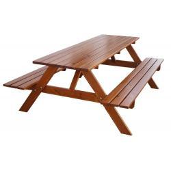Zahradní dřevěný set PIKNIK  - 180 cm, lakovaný