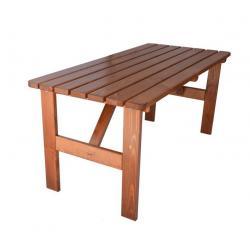 Zahradní dřevěný stůl Viking - 150 cm, lakovaný