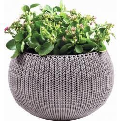 KETER Květináč COZY M závěsný - fialová