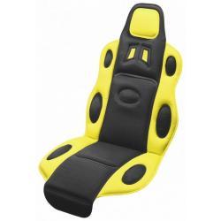 Potah sedadla Race - univerzální, černo/žlutý