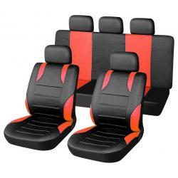 Potahy sedadel SPORT - 9 ks, červená