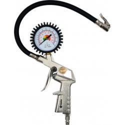 Pistole na huštění pneu s manometrem