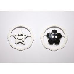 Chrastítko plast kruh 12cm 2 druhy černobílé 0m+