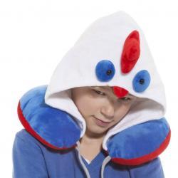 Dětský cestovní polštář s kapucí - kohout