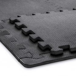 Pěnové puzzle 30 x 30 cm černé + 36 zakončovacích hran