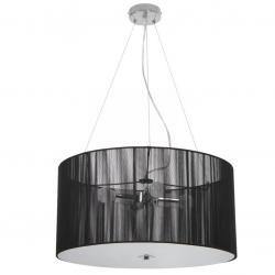 Závěsné světlo v retro stylu, černá, 50 x 50 x 71 cm