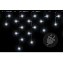 Vánoční světelný déšť - 11,9 m, 600 LED, studeně bílý