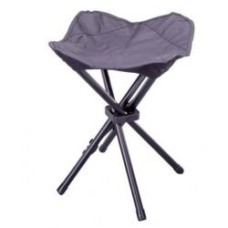 Kempovací skládací stolička - černá