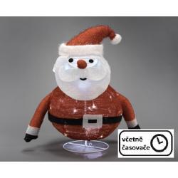 Vánoční dekorace - Santa Claus, 30 LED, 58 cm