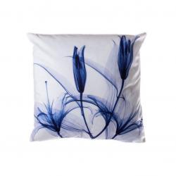 Povlak na polštář Tulips, 45 x 45 cm, modrá