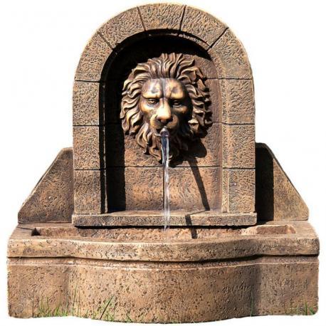 Zahradní kašna - fontána lví hlava 50 x 54 x 29 cm