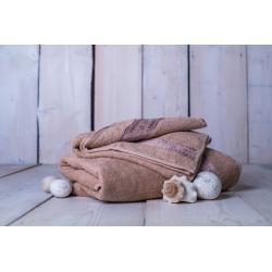 Set ručník + osuška Florina - hnědá