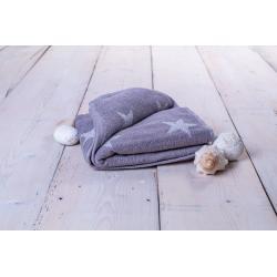 Ručník Stars - 50 x 100 cm, šedá