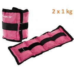 MOVIT zátěžové manžety 2x 1,0 kg růžová