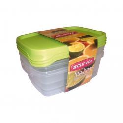 Set 3x plastová dóza TAKE AWAY FOODK 1,2l - zelené CURVER
