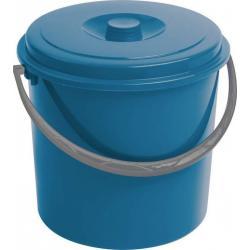 Kbelík s víkem CURVER 10L - modrý