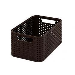 Plastový úložný STYLE BOX - S- hnědý CURVER