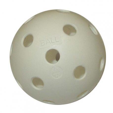 Florbalový míček necertifikovaný bílý