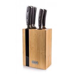 G21 sada nožů Gourmet Rustic, 5 ks + bambusový blok