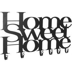 Nástěnný věšák se šesti háčky, Home Sweet Home