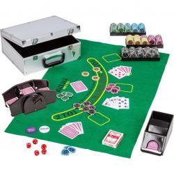 Pokerový set, 300 žetonů + míchačka karet