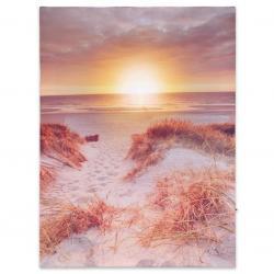 Nástěnná malba západ slunce na pláži, 1 LED, 30 x 40 cm