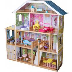 Dřevěný domeček pro panenky, 1190 x 316 x 1234 mm