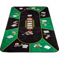 Skládací pokerová podložka, zelená/černá, 200 x 90 cm