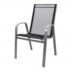 Zahradní stohovatelná židle, antracit