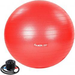 MOVIT Gymnastický míč s nožní pumpou, 85 cm, červený