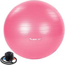 MOVIT Gymnastický míč s nožní pumpou, 85 cm, růžový